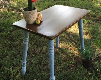 Antique Accent Table / Refinished and Distressed Finish