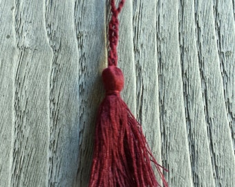 charm, wine red tassel, charm for ninja boots and kimono bracelet, tabi boots