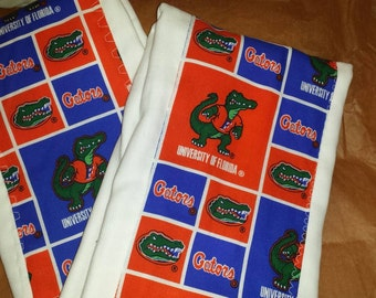 Customized burp clothes for you favorite collegiate or professional team