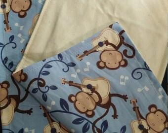 Monkey buisness burp cloths