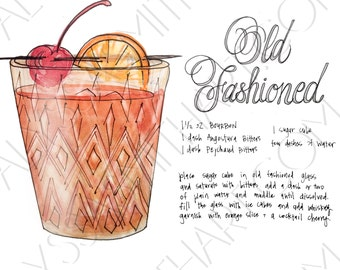 Old Fashioned Drink Print