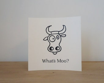 What's Moo? Cow Greeting Card