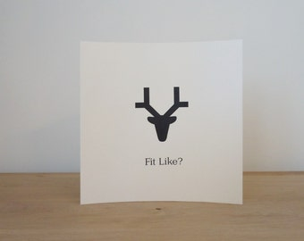 Fit Like? Doric Stag Greeting Card