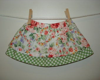 "18"" doll flower garden doll gathered skirt."