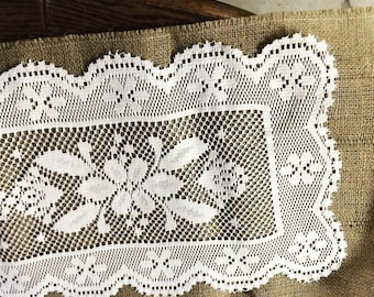 Burlap Lace Table Runner Rustic Country Chic Wedding Decor