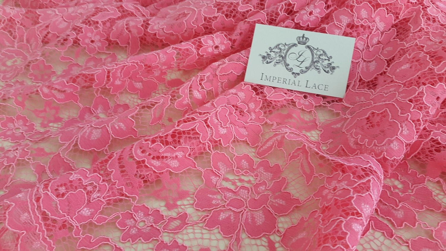 Pink lace fabric Embroidered lace French Lace Wedding Lace