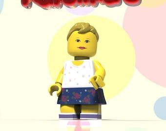 Baby portrait - Lego birthday. Custom Portrait. Children portrait. Lego. Children Birthday. Personalized child.