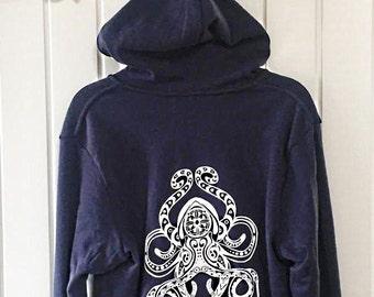 Navy Octopus Hoodie