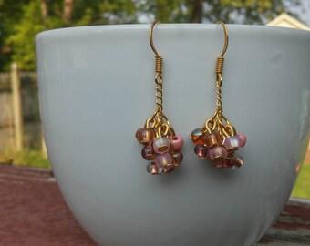 Golden Blush Dangle Earrings
