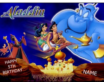 Aladdin Cake Topper Etsy Uk