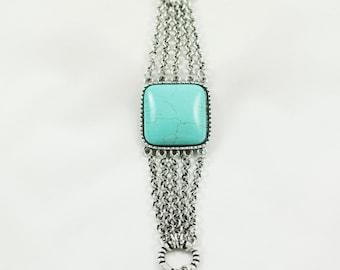 turquoise bracelet , bracelet for women , turquoise jewelry . silver turquoise bracelet , boho bracelet , holiday gift
