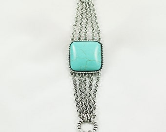 Turquoise Bracelet,turquoise bracelet ,Turquoise Jewelry, silver bracelet,Howlite turquoise, Silver Turquoise Bracelet .turquoise bracelets