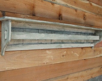 """52"""" Distressed White QUILT RACK, Antique Style Quilt Display, CEDAR, French Country Quilt Display, Shabby Chic Quilt Display,"""