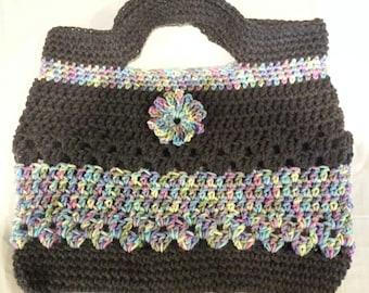 Crocheted Market Bag / Purse / Tote 13.5x14
