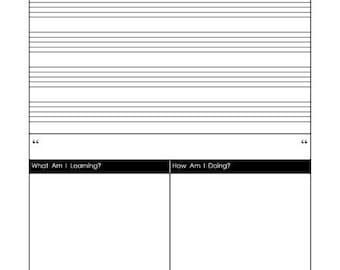 Daily Music Staff Insert for Muse Planner Journal Diary Notebook Calendar Printable PDF Paper Download A5 Musicians