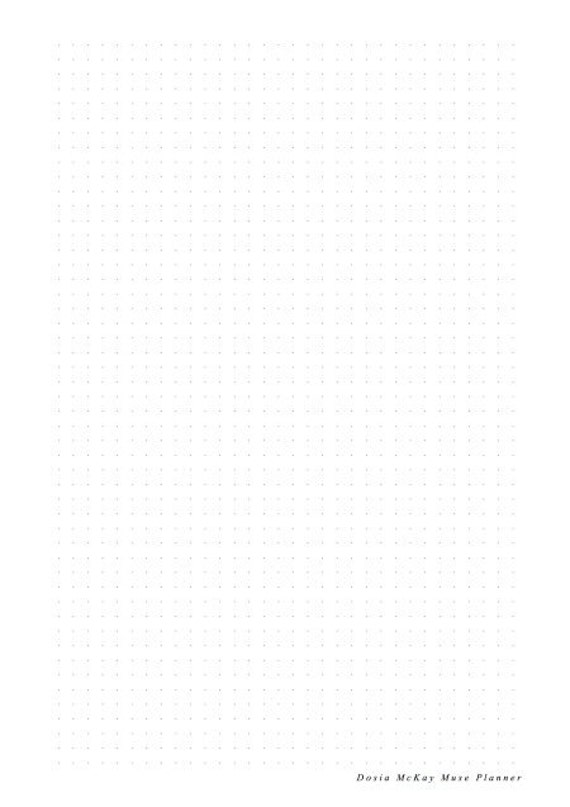 dot grid insert for muse planner journal diary notebook calendar printable pdf paper download a5