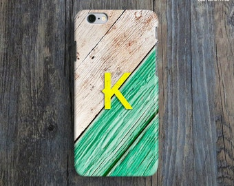 PERSONALIZED iPhone 6 Case. Initial iPhone 6 Case. Unique iPhone 6 Plus Case. Green iPhone6 Case. Gift iPhone Cover. Name iPhone 6 Cover.