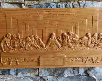 Christmas gift The Last Supper Carving wall decor