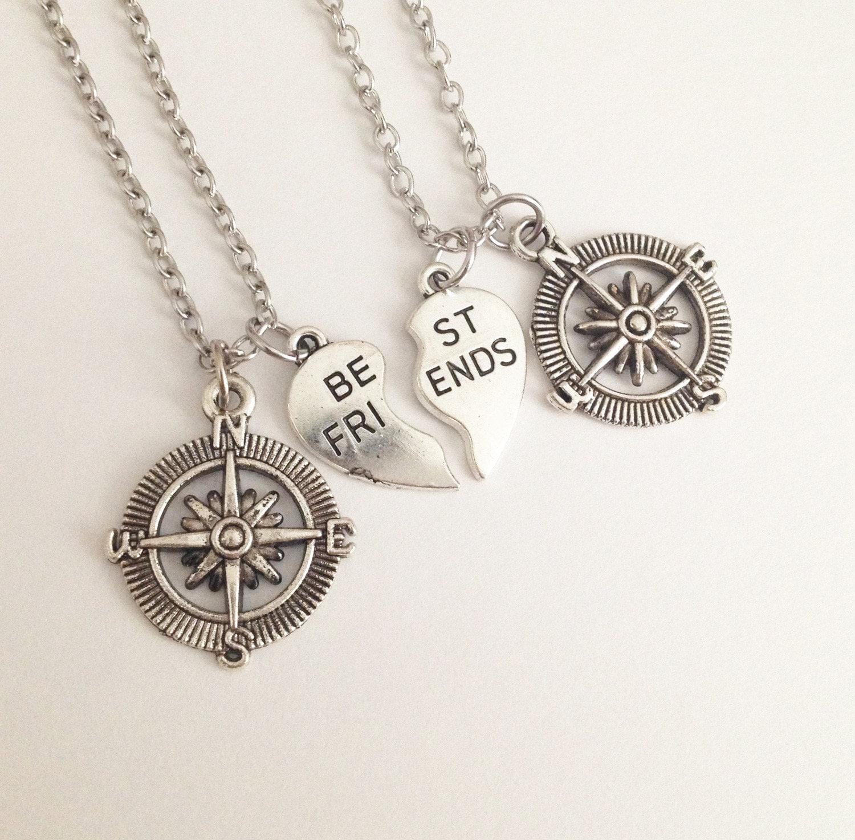 compass necklace best friend necklace necklace