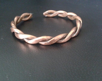 copper twisted health band