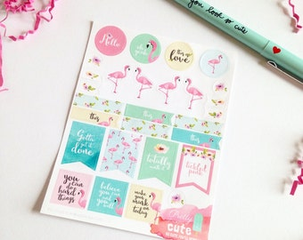 FLAMINGOH-SO-Cute Planner Stickers PSC-0002