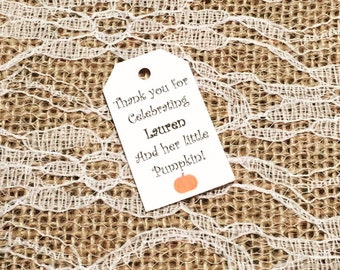 Baby Shower Thank You Tags, Baby Shower Favor Tags, Baby Shower Tags, Baby Shower Thank You Tags, Set Of 25 Tags, Fall Theme Baby Shower