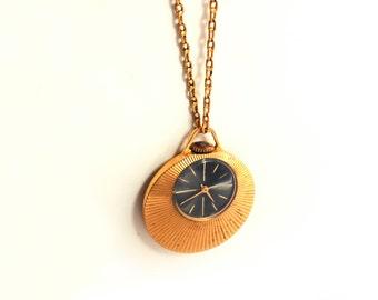 Soviet watch russian watch vintage watch pendant watch soviet watch pendant watch necklace vintage watch pendant watch gold plated watch aloadofball Choice Image