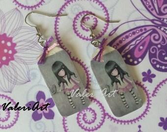 Handmade decoupage earrings!!!