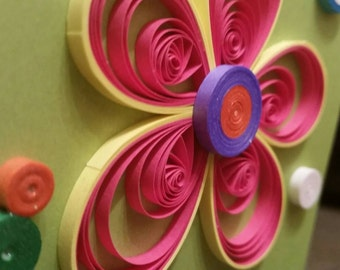 Quilled Greeting Card - Handmade - Birthday - Mother's Day - Sweetest Day - Thank You - Get Well Soon