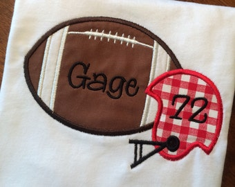 Personalized Football & Helmet Shirt