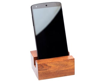 Hand Carved Solid Rosewood Phone Stand