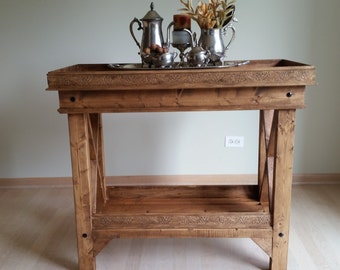 Rustic Liquor Table