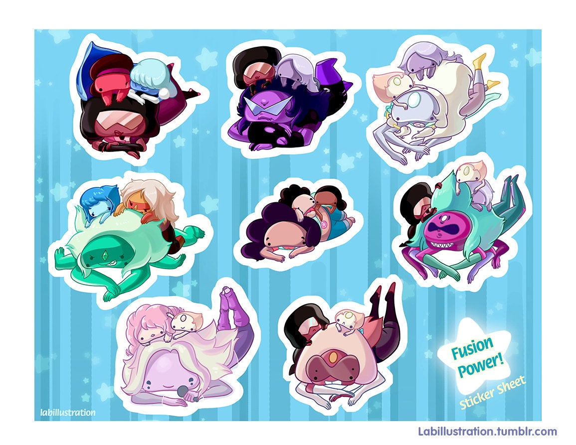 Steven Universe Fusion Gem sticker sheet