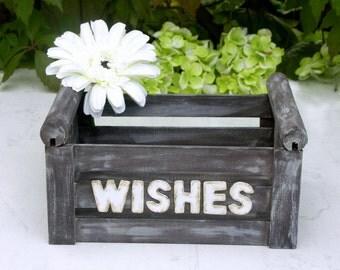 Rustic Wedding Wish Box