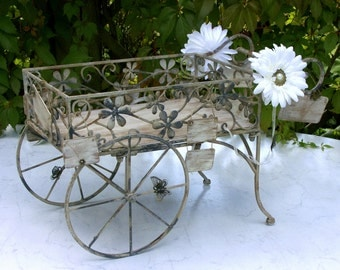 Rustic Wrought Iron Wedding Table Car
