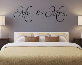 Mr. and Mrs. 4 vinyl wall decal