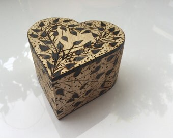 Nature's Heart Shaped Jewelry Box