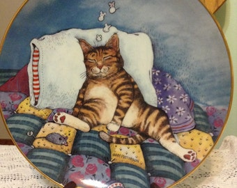 Collectible Gary Patterson Cat Plate