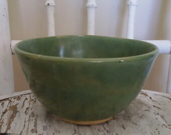 Celadon green bowl, handmade bowl, ceramic bowl, Jade green bowl