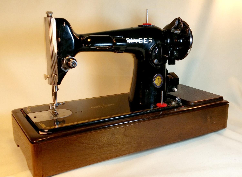 custom black walnut sewing machine wood base singer 15 91. Black Bedroom Furniture Sets. Home Design Ideas