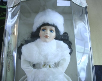 Vintage Genuine Fine Bisque Porcelain Doll- Collector's Choice with Certificate of Authenticity