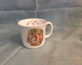 The Flopsy Bunnies Beatrix Potter Child's Mug, Royal Albert Bone China Made in England