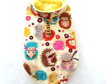 Small dog clothes Fall hedgehogs jumper, Chihuahua coat, puppy outfit Size - XXS