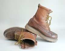 Mens Size 9 High Top Work Boot