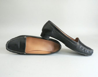 Womens Leather Loafers Size 8.5 Wide Width