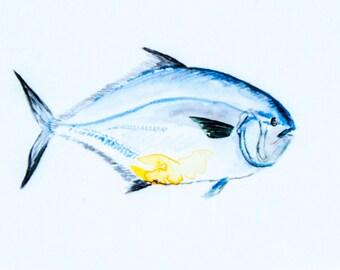 """Fish Original Watercolor Painting 5x7"""""""