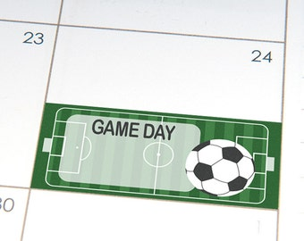PRINTABLE Soccer Game Day planner stickers