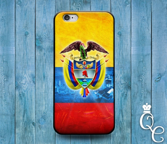 iPhone 4 4s 5 5s 5c SE 6 6s 7 plus iPod Touch 4th 5th 6th Gen Red Yellow Blue Country Flags South America Colombia Flag Case Phone Cover