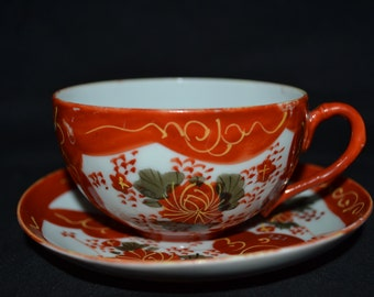 Chinese bone china tea cup and saucer.
