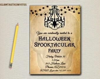 Halloween Party Invitation, Halloween Invitation, Halloween, Scary Halloween Invitation, Halloween Party, Halloween Birthday Party
